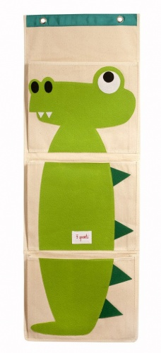 3 Sprouts Wall Organiser- Green Crocodile