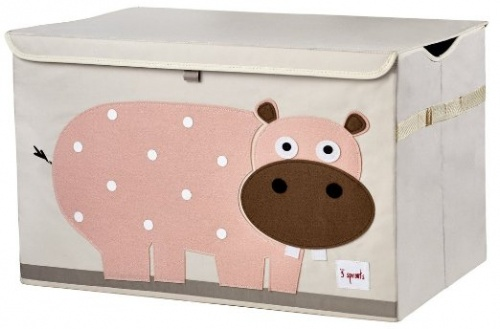 3 Sprouts Toy Storage Chest - Pink Hippo