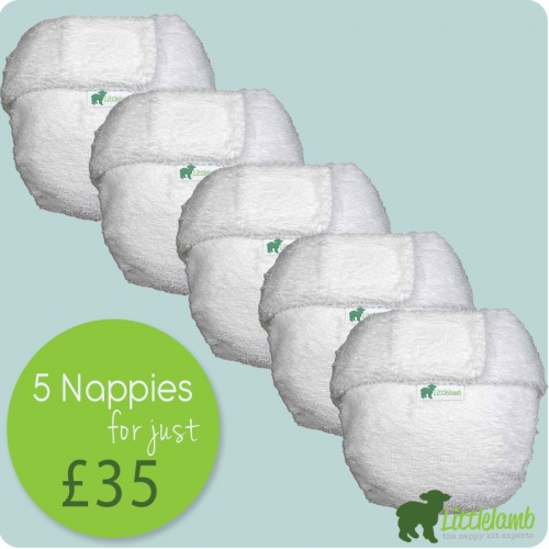 Little Lamb Cotton Nappy - Bundle Deal