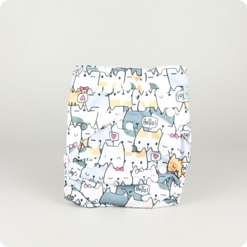 Alva Baby One Size Nappy - Hello Kitty