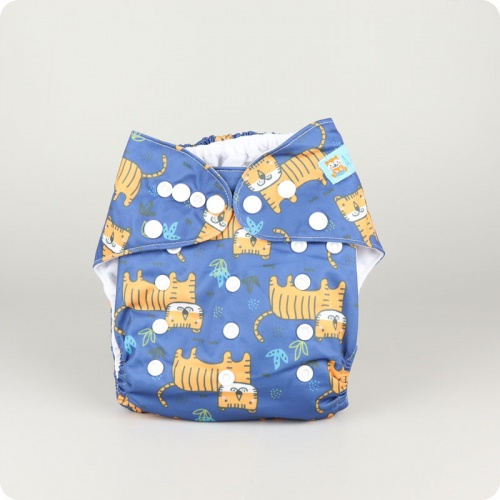Alva Baby One Size Nappy - Tiger King