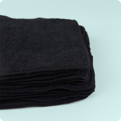 Muslinz Black Bamboo Reusable Wipes- 12 Pack