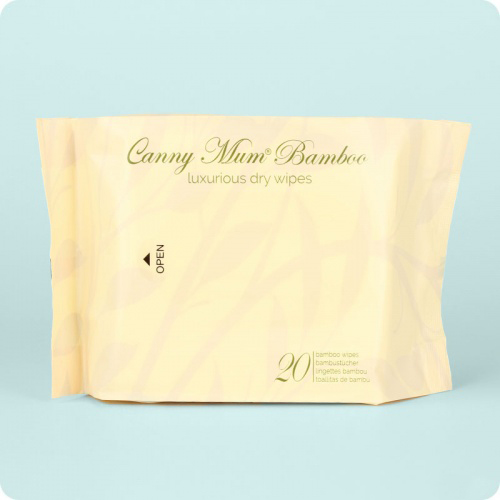 Cannymum Luxurious Bamboo Dry Wipes- Pack 20