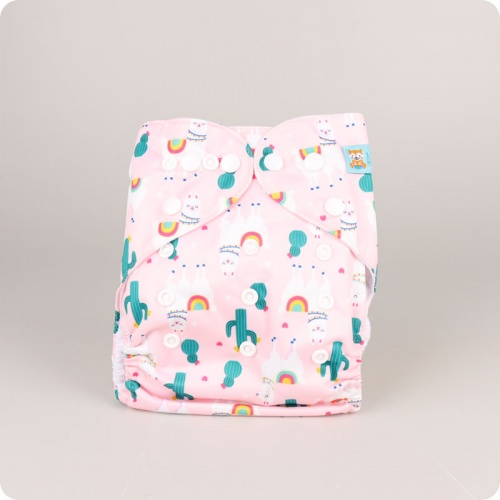 Alva Baby One Size Nappy - Happy Alpaca