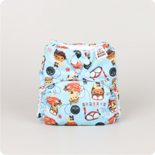 Mama Koala One-Size Pocket Nappy - Chocks Away