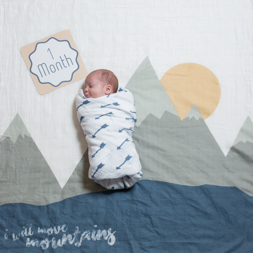 ''I Will Move Mountains'' Baby's First Year Set