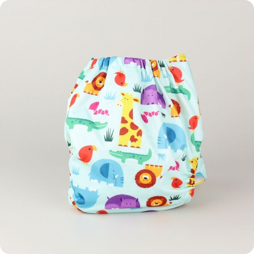 Alva Baby One Size Nappy - On Safari
