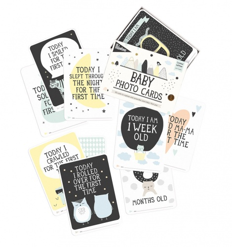 Milestone Baby Cards- Over the Moon Design