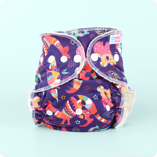 Petit Lulu Maxi Night Nappy -Snaps