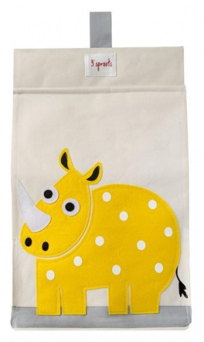 3 Sprouts Nappy Stacker- Yellow Rhino