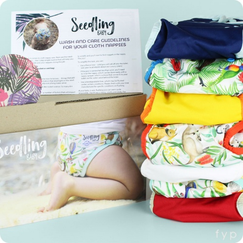 Seedling Multi-Fit Pocket Nappy - 7 Pack