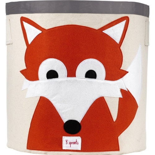 3 Sprouts Cotton Storage Bin - Fox