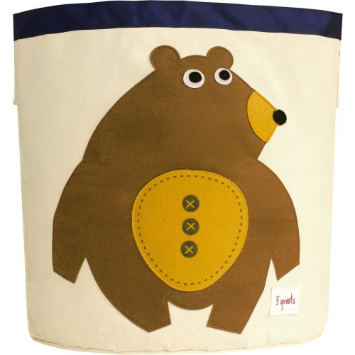 3 Sprouts Cotton Storage Bin - Toffee Bear