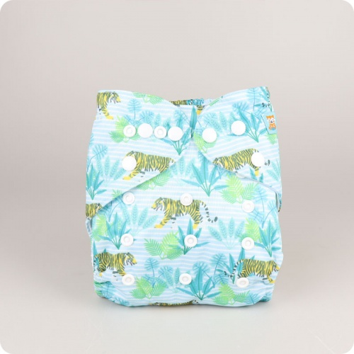 Alva Baby One Size Nappy - Thai Tiger