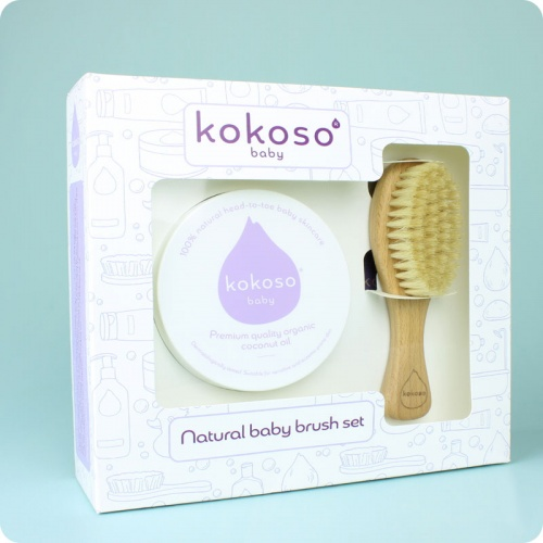 Kokoso Natural Baby Brush Set