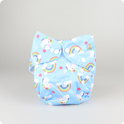 Alva Baby One Size Nappy - Unicorns