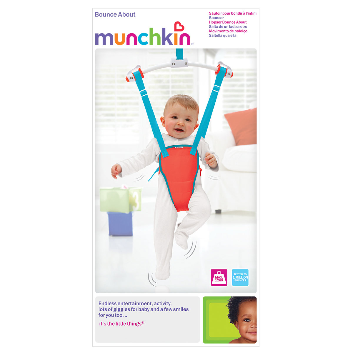 Munchkin Baby Door Bouncer | Bounce About Baby Bouncer
