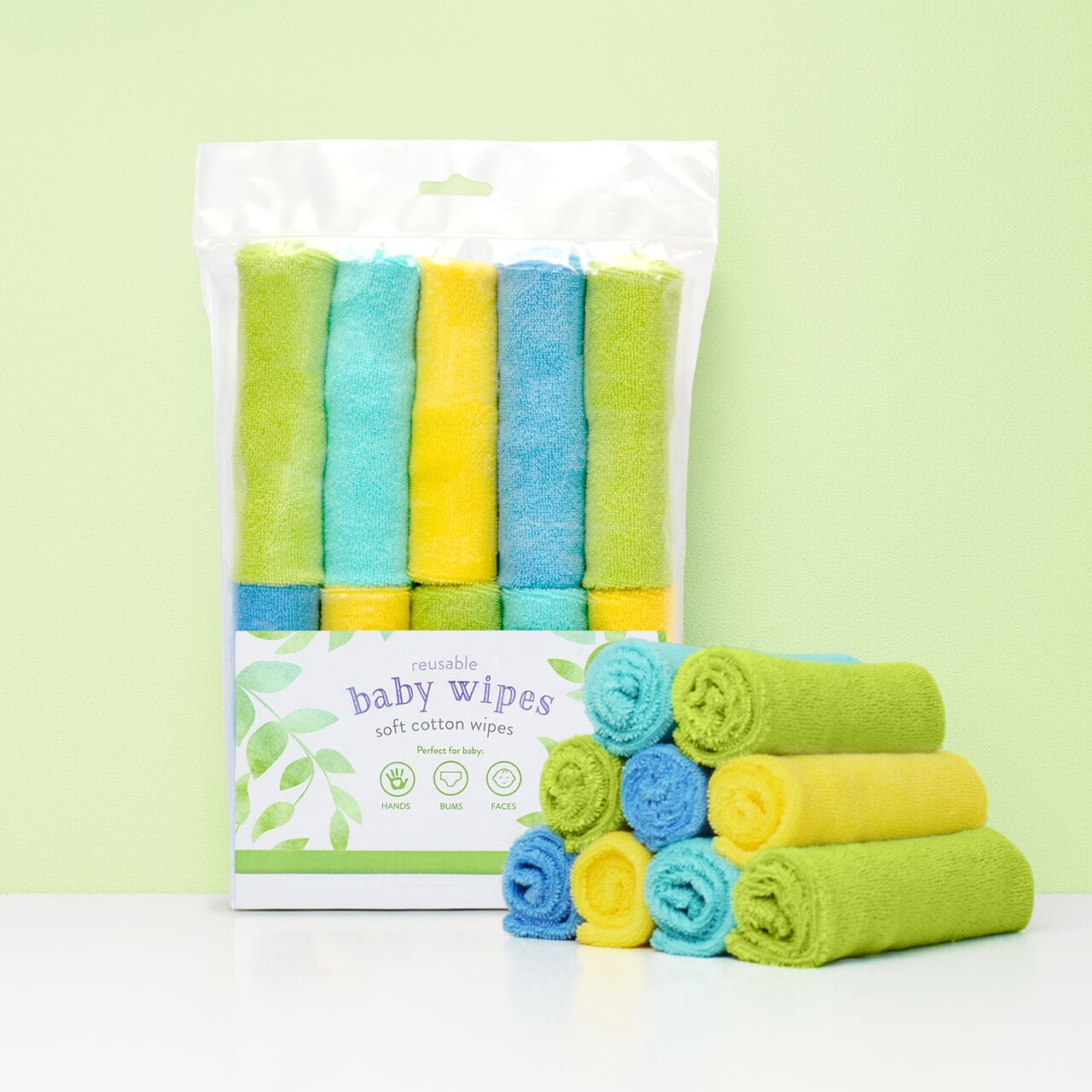 Bambino Mio Reusable Wipes - Lime