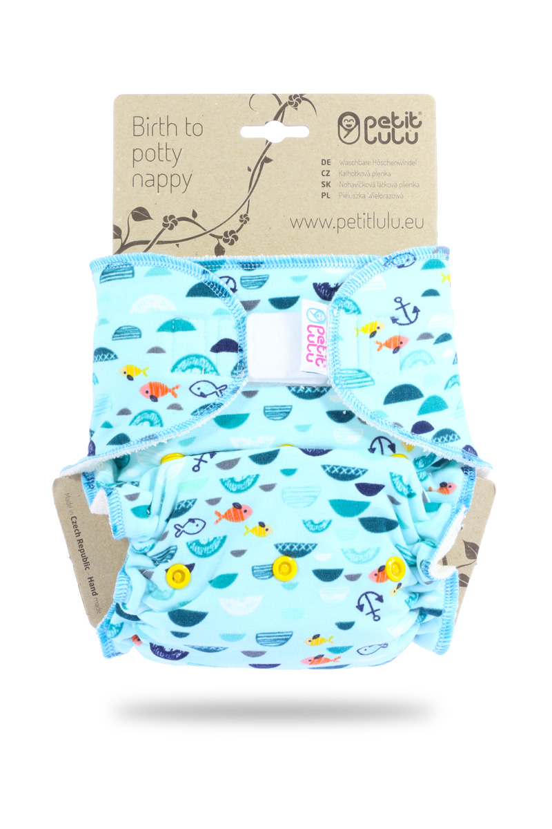 Petit Lulu One Size Fitted Nappy- Hook & Loop