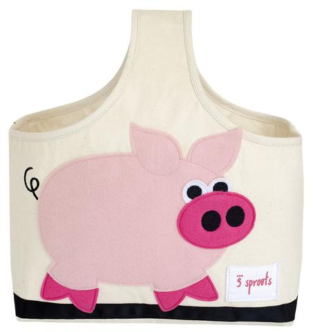 3 Sprouts Storage Caddy - Pink Pig