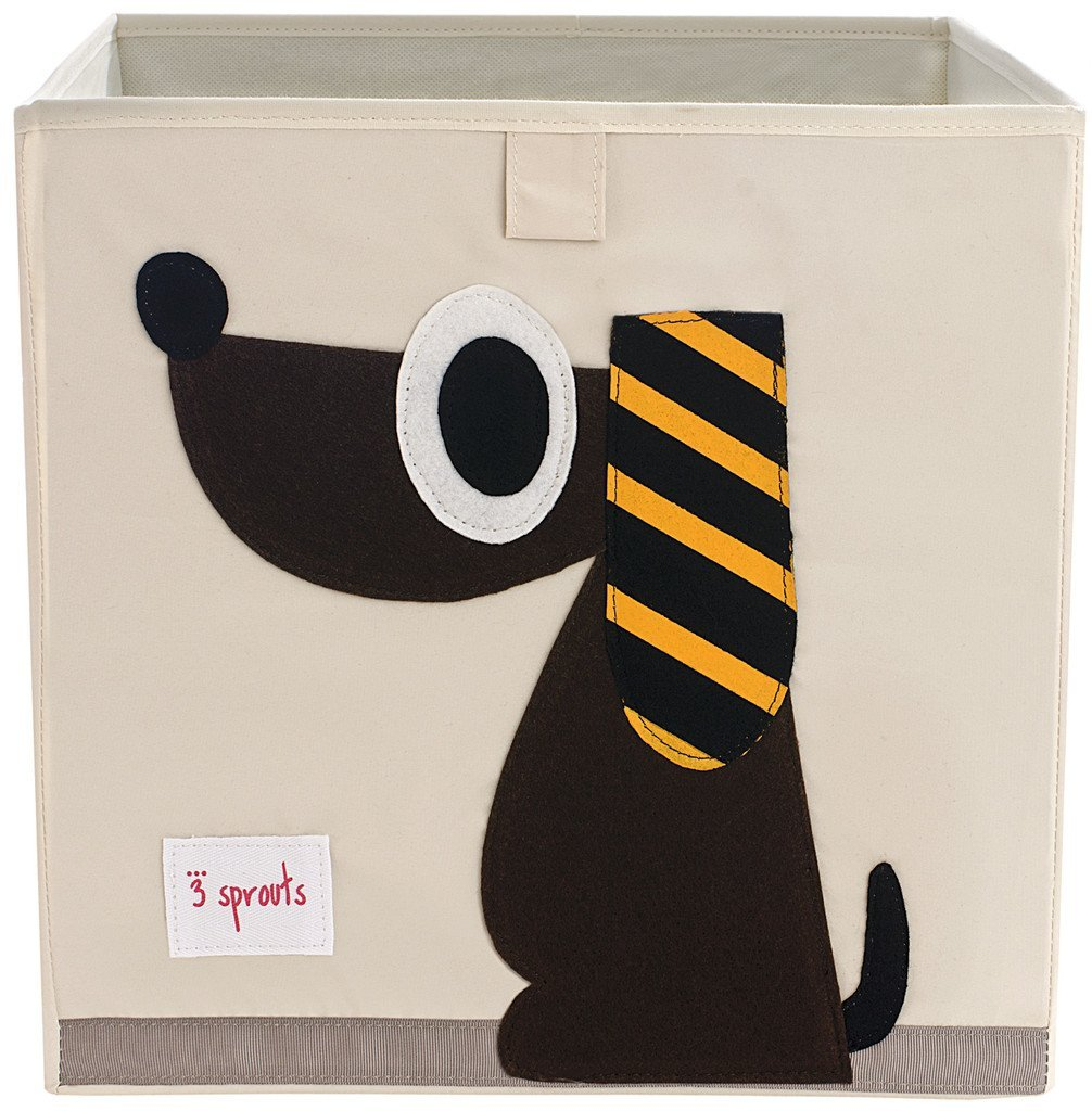 3 Sprouts Storage Box- Brown Dog