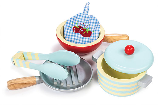 Le Toy Van Wooden Pots & Pans Set