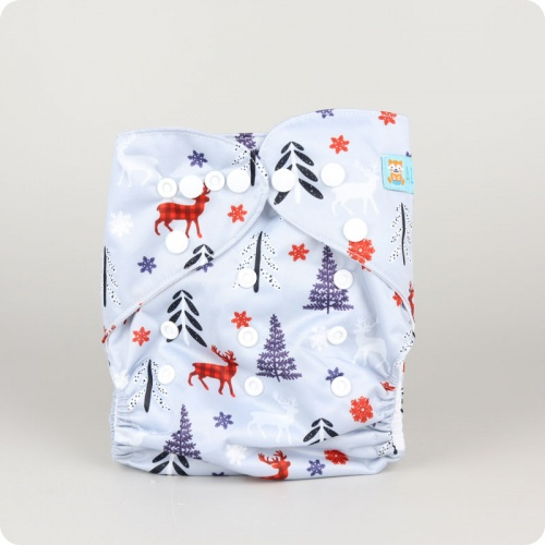 Alva Baby One Size Nappy - Winter Forest