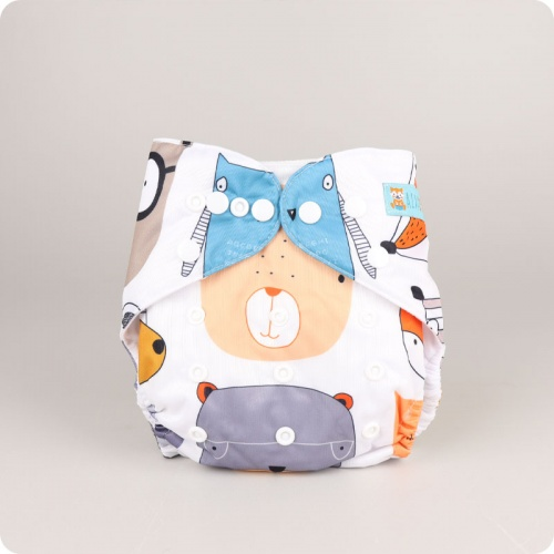 Alva Baby One Size Nappy - Bears