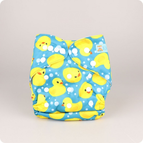Alva Baby One Size Nappy - Dizzy Ducks