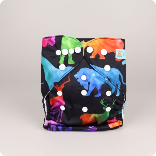Alva Baby One Size Nappy - Herd of Colour