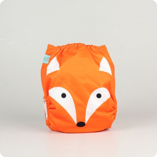 Alva Baby One Size Nappy - Mr Fox