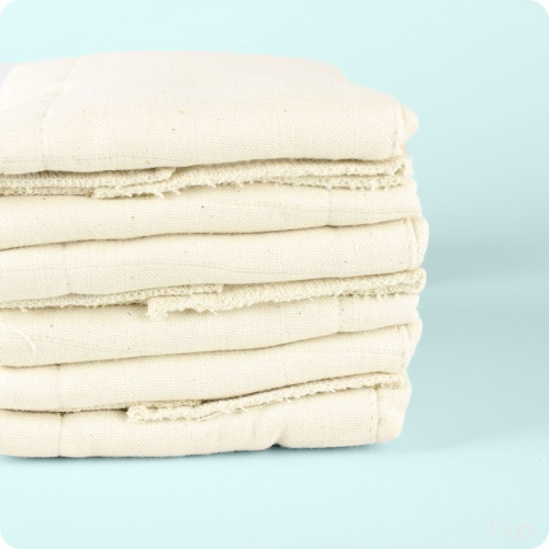 Muslinz 100% Cotton Prefolds - 6pk Unbleached