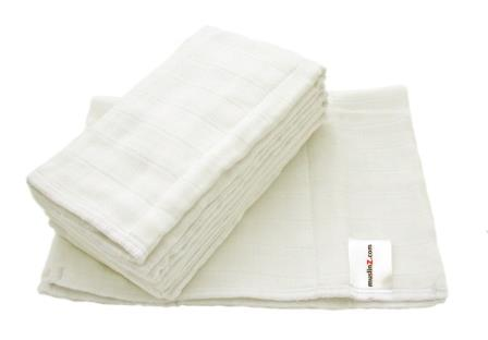 Muslinz 100% Cotton Prefolds- 6pk