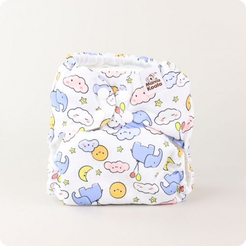 Mama Koala One-Size Pocket Nappy - Nursery Time
