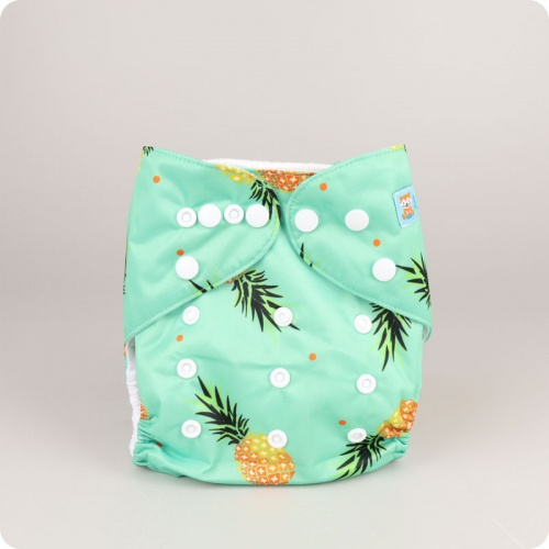 Alva Baby One Size Nappy - Pineapples