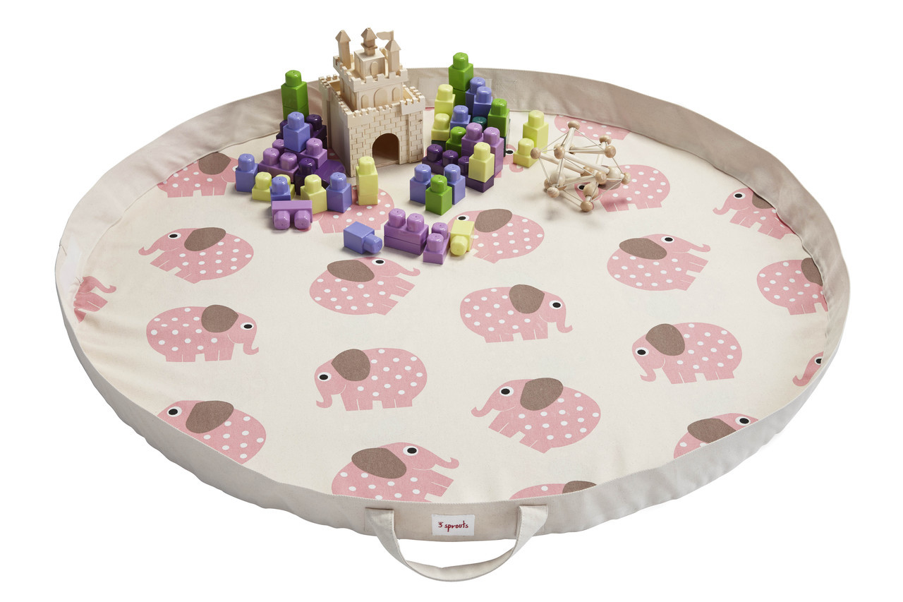 3 Sprouts Play Mat Bag- Elephant