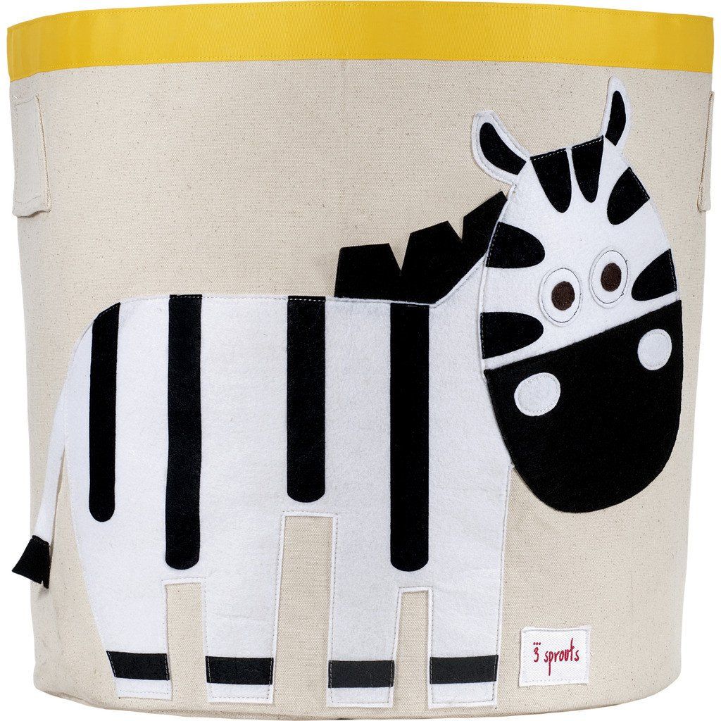 3 Sprouts Cotton Storage Bin - Zebra