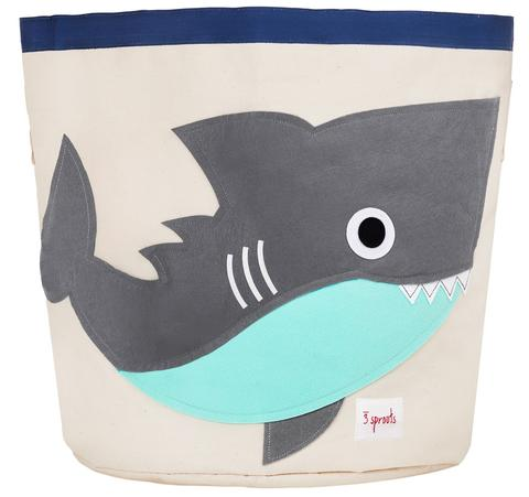 3 Sprouts Cotton Storage Bin - Grey Shark