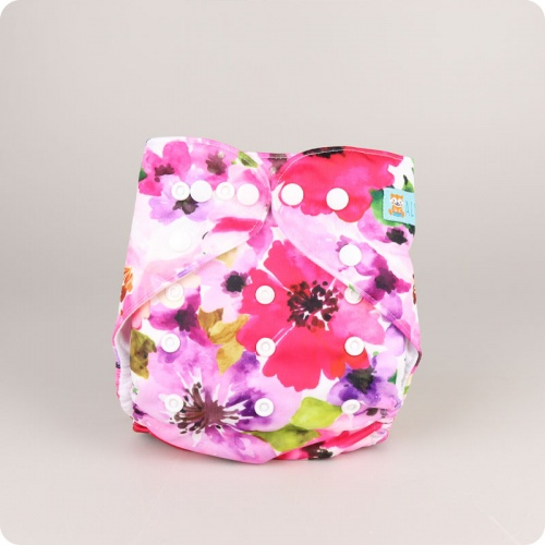Alva Baby One Size Nappy - Watercolour Bloom