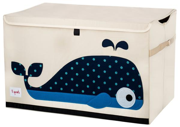 3 Sprouts Toy Storage Chest - Blue Whale