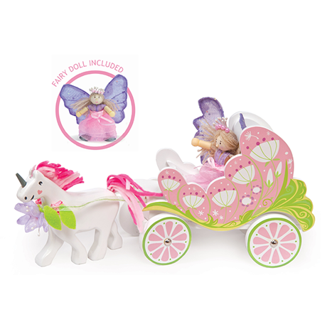 Le Toy Van Wooden Fairy Carriage & Unicorn