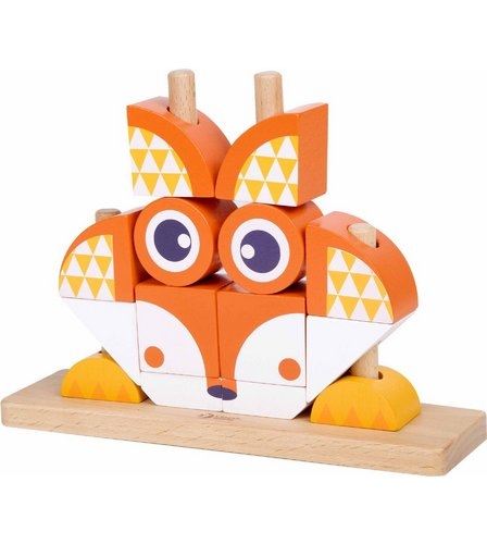 Classic world wooden fox blocks set for Fox blocks house plans
