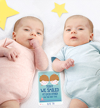 Milestone Baby Cards- TWINS