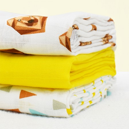Bambino Mio Cotton Muslin Squares- 3 Pack