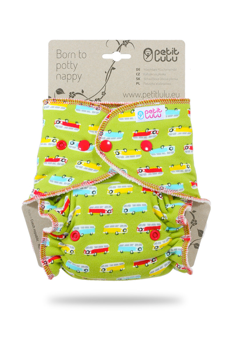 Petit Lulu One Size Fitted Nappy- Snap