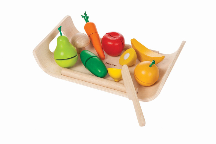 Plan Toys Assorted Fruit & Veg with Tray