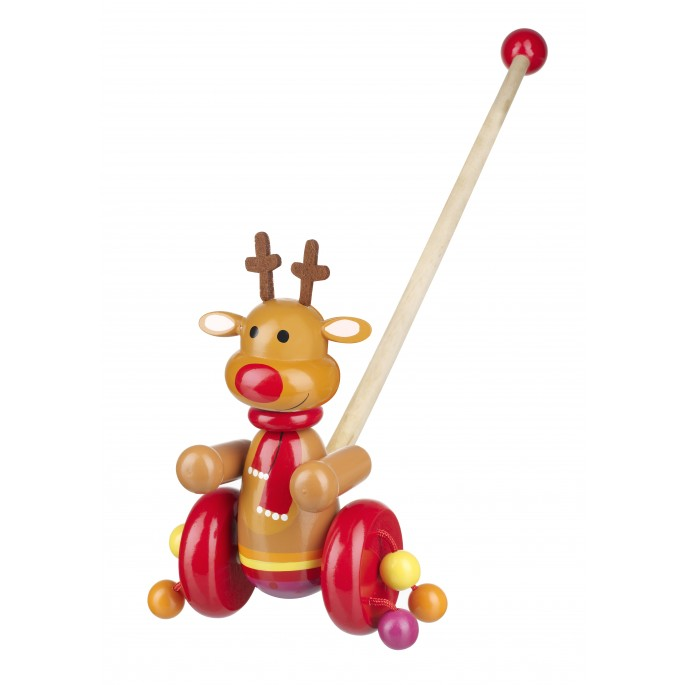 Orange Tree Wooden Reindeer Push Along