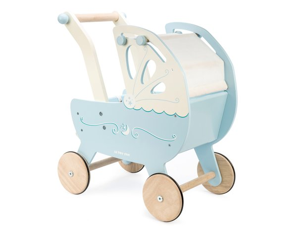 Le Toy Van Wooden Pram- Blue
