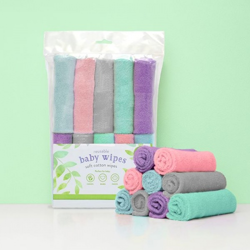 Bambino Mio Reusable Wipes - Cloud
