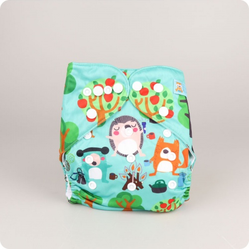 Alva Baby One Size Nappy - Camping Critters